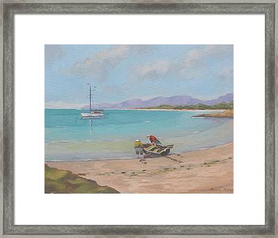 Whitsunday Sailors Framed Print by Murray McLeod