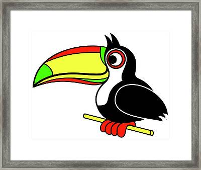 Who Can Tucan Framed Print by Asbjorn Lonvig