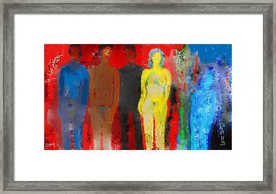 Who  Framed Print by Carlos Camus
