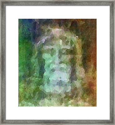 Who Do Men Say That I Am - The Shroud Framed Print by Glenn McCarthy Art and Photography