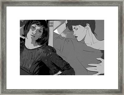 Who Is Real And Who Is Illusion Framed Print by Pat Kunke