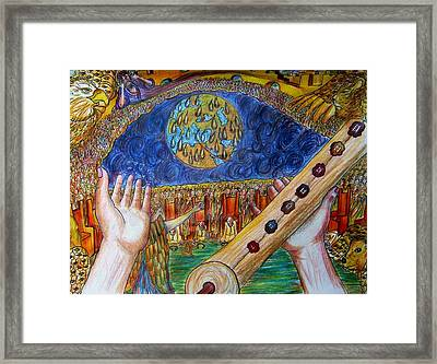 Who Is Worthy To Open The Book Framed Print by Richard  Hubal