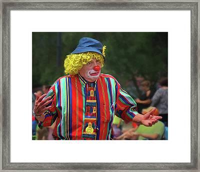 Who Knows - Clown - Parade Framed Print by Nikolyn McDonald