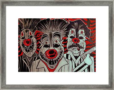 Who R These Clown's..... Framed Print by Ottoniel Lima