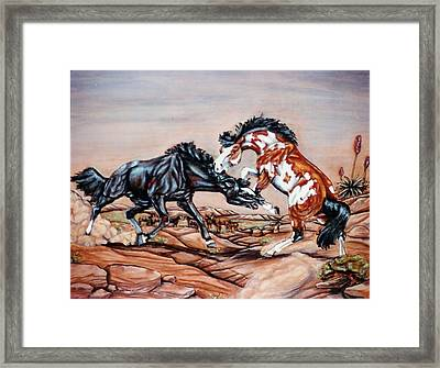 Who The Boss Framed Print by Lilly King