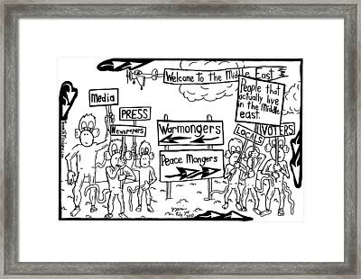 Who Wants What In The Middle East By Yonatan Frimer Framed Print
