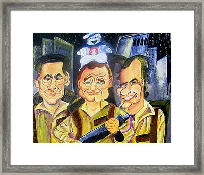 Who You Gonna Call Framed Print by Jacob Logan