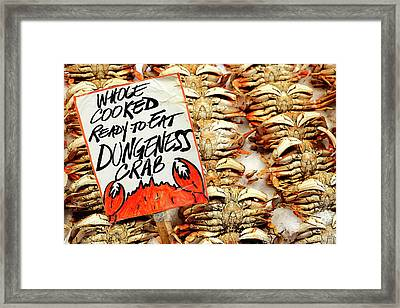 Whole Cooked Crabs Framed Print by Todd Klassy