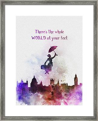 Whole World At Your Feet Framed Print