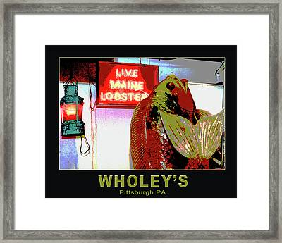 Wholey's Fish Framed Print by Eclectic Art Photos