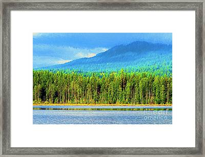 Framed Print featuring the photograph Whonnock Lake Mountain Photo Art by Sharon Talson