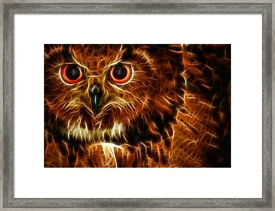 Whoo Framed Print by Joetta West