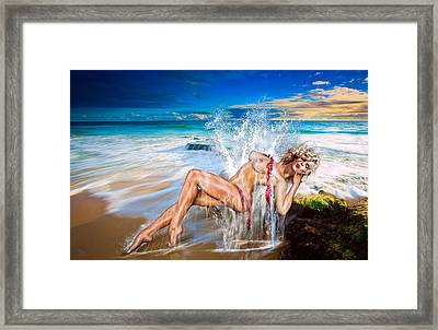 Whoops  ...  Marylin Framed Print