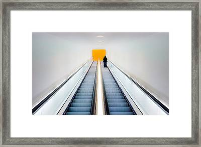 Who's Afraid Of Black, Yellow And Grey Framed Print