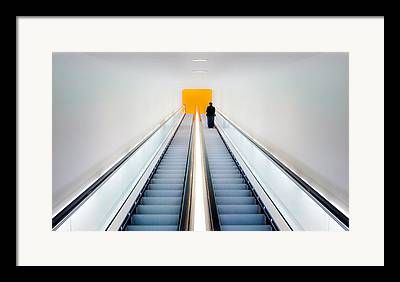 Escalator Framed Prints