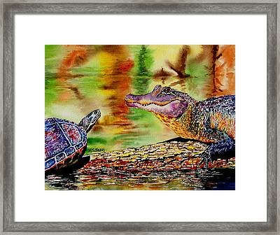 Who's For Lunch Framed Print by Maria Barry
