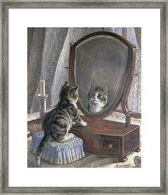 Who's The Fairest Of Them All Framed Print by Frank Paton