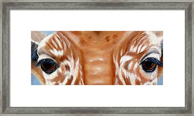 Whos Watching Who   Giraffe Framed Print by Darlene Green