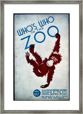 Who's Who In The Zoo Wpa Framed Print