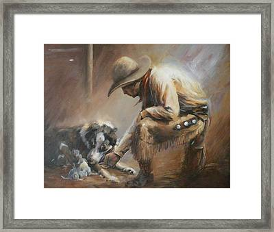 Who's Your Daddy Framed Print by Mia DeLode