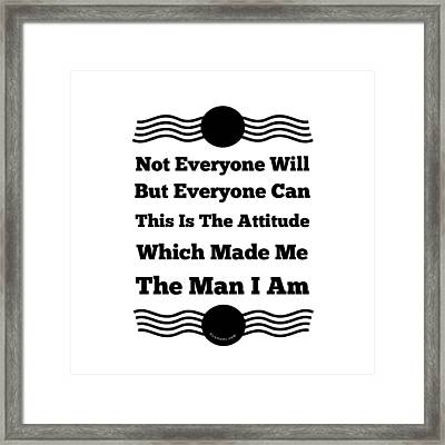 Whose The Man Framed Print by Firsttees Motivational Artwork