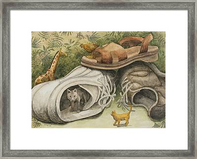 Whose Turn Is It Framed Print by Sandy Clift