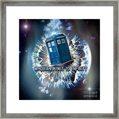Whovians To Infinity Framed Print by Robert Radmore