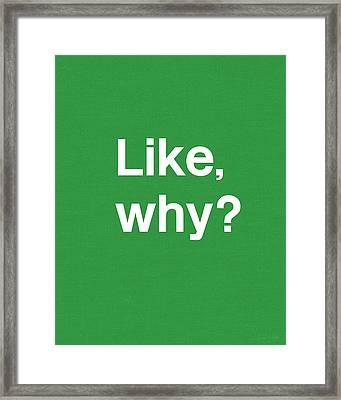 Why- Art By Linda Woods Framed Print