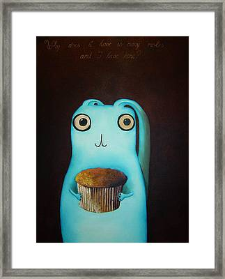 Why Does It Have So Many Moles And I Have None Framed Print by Anastassia Neislotova