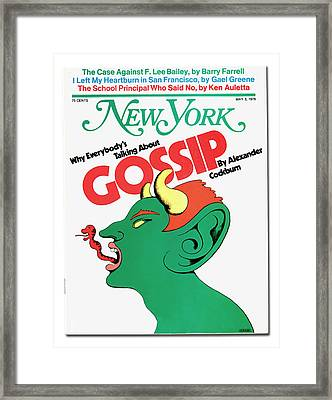 Why Everybody Is Talking About Gossip Framed Print