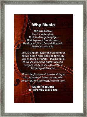 Why Music For Violin Or Viola 4823.02 Framed Print by M K  Miller