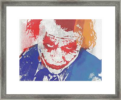 Why So Serious Framed Print