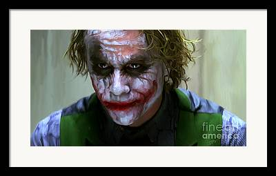 Dark Knight Digital Art Framed Prints