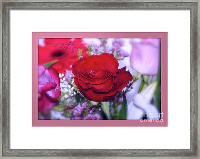 Why Framed Print by Terry Wallace