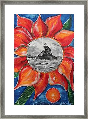 Framed Print featuring the painting Why Worry.... by Sladjana Lazarevic