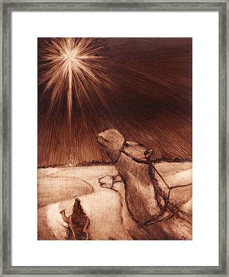 Why Would Wisemen Follow A Star? Framed Print by Linda Anderson