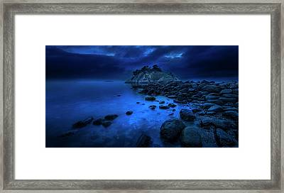 Framed Print featuring the photograph Whytecliff Dusk by John Poon