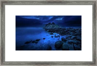 Whytecliff Dusk Framed Print by John Poon