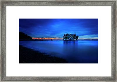 Framed Print featuring the photograph Whytecliff Sunset by John Poon
