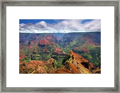 Wiamea View Framed Print by Mike  Dawson