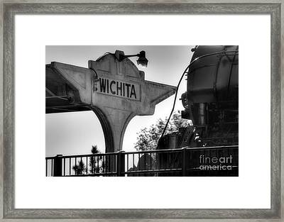 Wichita Approach Framed Print by Fred Lassmann