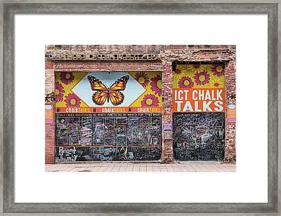 Wichita Chalk Talk Framed Print by JC Findley