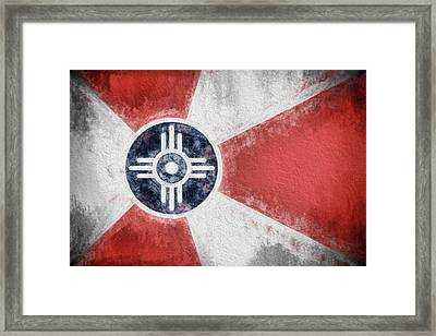 Framed Print featuring the digital art Wichita City Flag by JC Findley