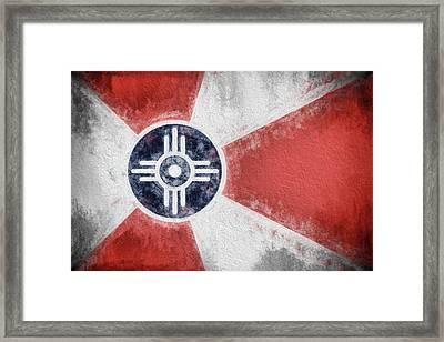 Wichita City Flag Framed Print by JC Findley