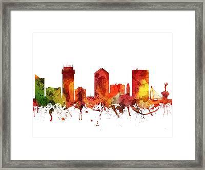 Wichita Cityscape 04 Framed Print