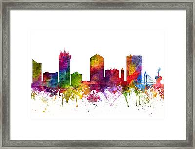 Wichita Cityscape 06 Framed Print