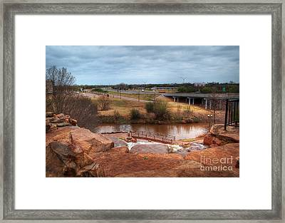 Wichita Falls View Framed Print by Fred Lassmann