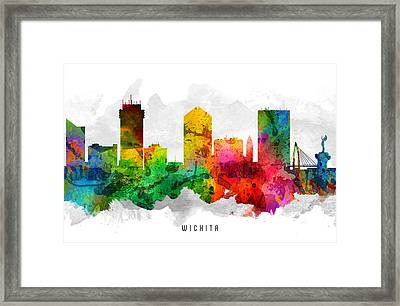 Wichita Kansas Cityscape 12 Framed Print