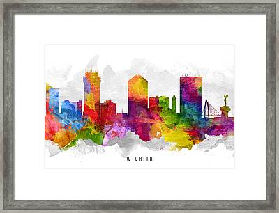 Wichita Kansas Cityscape 13 Framed Print