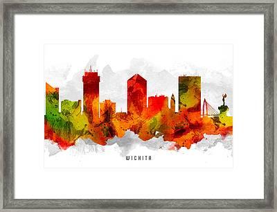 Wichita Kansas Cityscape 15 Framed Print